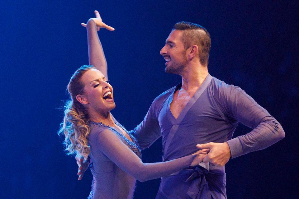 "Isabel Edvardsson mit Benjamin Piwko bei ""Let's Dance"" im Jahr 2019"