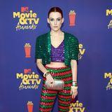 Pailletten-Party:Riley Keough bringt im Gucci-Outfit Farbe auf den roten Teppich.