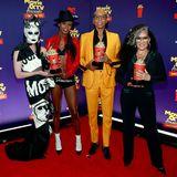 """Gottmik, Symone, RuPaul und Michelle Visage sind die stylischen Gewinner in der Kategorie """"Best Reality Cast"""" für ihre Show """"RuPaul's Drag Race""""."""