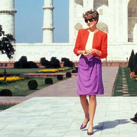 Prinzessin Diana 1992 vor dem Taj Mahal