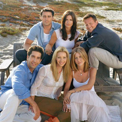 """Friends"":Matt LeBlanc, Courteney Cox Arquette, Matthew Perry, Jennifer Aniston, Lisa Kudrow, David Schwimmer"