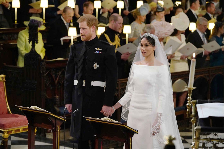 Prinz Harry und Herzogin Meghan bei ihrer Hochzeit in St George's Chapel in Windsor Castle.