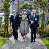 19. Mai 2021  König Philippe und Königin Mathilde besuchenden Campus Salvator des Jessa Krankenhauses im Rahmen des Kampfes gegen die Coronapandemie in Hasselt, Belgien. Gemeinsamspazieren sie über das Klinikgelände und informieren sich über die aktuelle Lage.