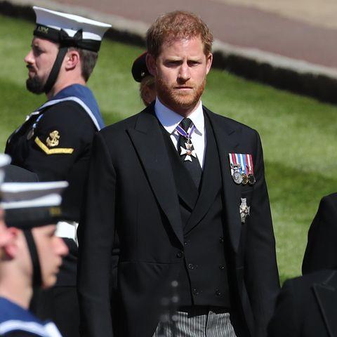 Prinz Harry bei der Trauerfeier von Prinz Philip (†99)