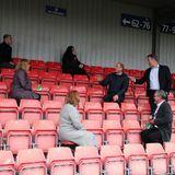 William unterhält sich dort auch mit Mitglieder derScottish Football Association über verschiedene Initiativen, in denen Fußball die mentale Gesundheit fördern kann.