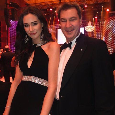Gloria Sophie mit ihrem Papa Markus Söder