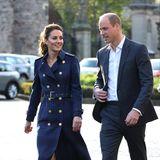 """Herzogin Catherine und Prinz William sind Schirmherren der """"NHS Charities Together"""". Die Organisation liegt ihnen besonders am Herzen. Bevor der Film gezeigt wird, hält Kate noch eine kleine Rede, um den Mitarbeiter:innen zu danken."""