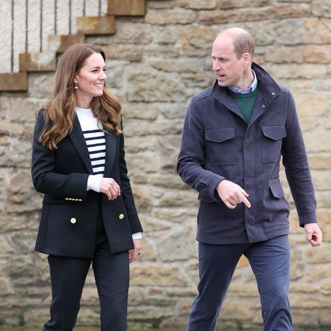 Herzogin Catherine und Prinz William zeigen sich am 26. Mai 2021 in Schottland, hier auf einem Pressefoto.