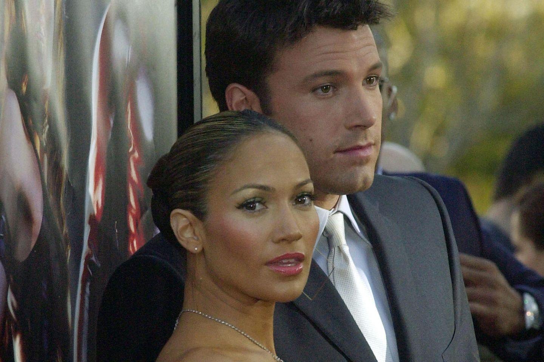 Jennifer Lopez undBen Affleck 2003 bei einer Premiere in Hollywood.