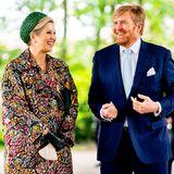27. Mai 2021  Königin Máxima und König Willem-Alexander sind heute auf Provinzbesuch imNationalpark De Maasduinen in der Region Noord-Limburg und freuen sich über einen Spaziergang in der Natur.