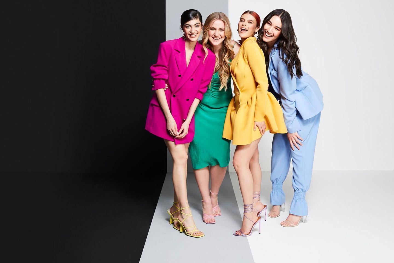 """Soulin, Dascha, Romina und Alex standenim Live-Finale von """"Germany's Next Topmodel - by Heidi Klum""""."""