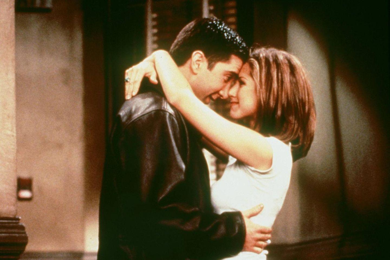 David Schwimmer (Joey) und Jennifer Aniston (Rachel) waren nicht nur vor den Kameras Feuer und Flamme für einander.