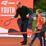 Als Nächstes wird es sportlich für die Royals. Beim Besuch der Lawn Tennis Association bleibt Prinz William am Ball und versucht bei den jungen Spielern mitzuhalten.