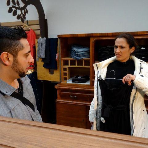 Kandidatin Leila bei Shopping Queen.