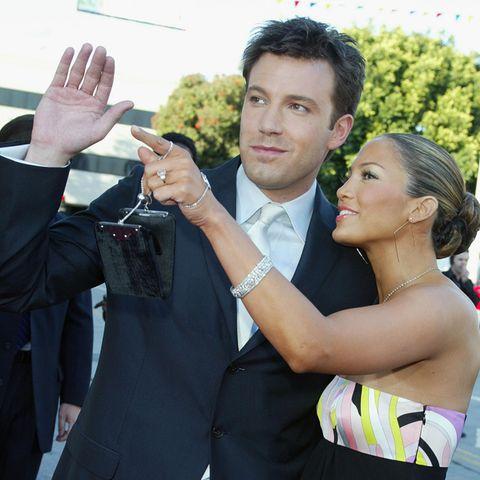 """Ben Affleck und Jennifer Lopez bei der Premiere von """"Daredevil"""" im Jahr 2003"""