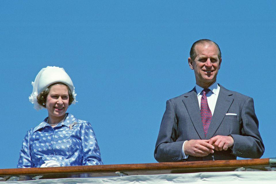 Queen Elizabeth und Prinz Philip 1979 auf derBritannia.