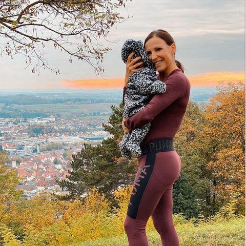 Sabrina Mockenhaupt mit Tochter Ruby