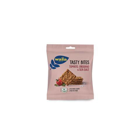 """Knackiger SnackFür den kleinen Hunger zwischendurch snacken wir am liebsten diesen würzigen Knäckebrotsnack im Pocketformat. """"Tasty Bites"""" von Wasa, ca. 1,10 Euro (50 Gramm)"""