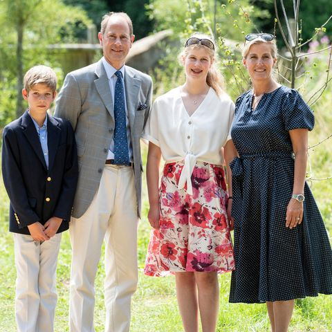 Familie Wessex: James, Edward, Louise und Sophie.