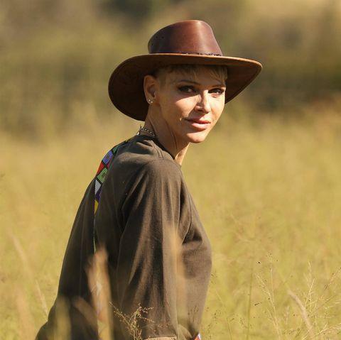 Fürstin Charlène während ihrer Reise nach Südafrika für eine Naturschutzmission.