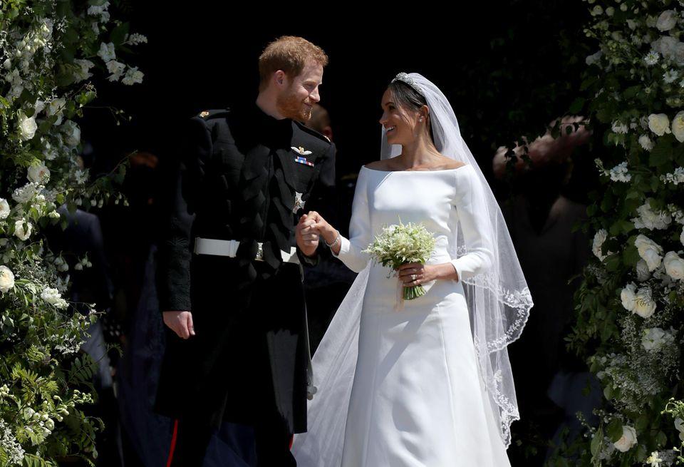 Prinz Harry und Herzogin Meghan auf ihrer Hochzeit am 19. Mai 2018