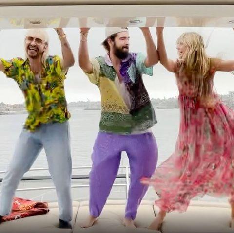 Bill Kaulitz, Tom Kaulitz und Heidi Klum