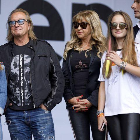 Robert und Carmen Geiss mit ihren Töchtern Shania und Davina