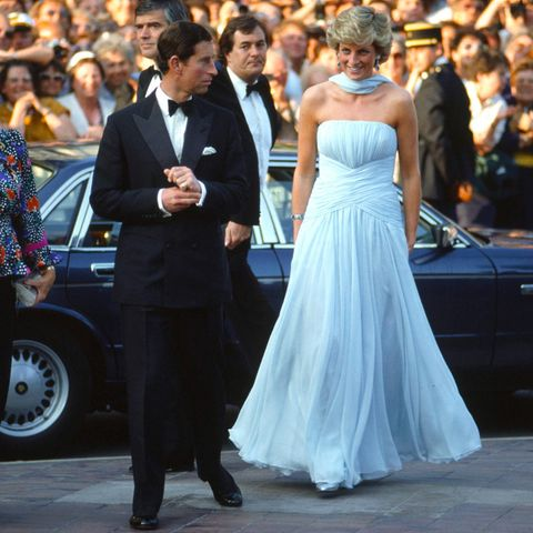 Prinz Charles und Prinzessin Diana 1987 in Cannes.