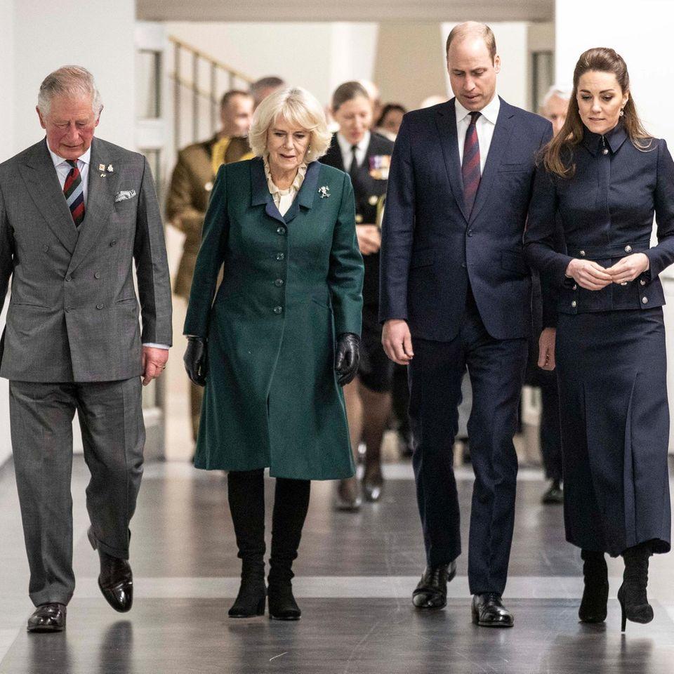 Prinz Charles, Herzogin Camilla, Prinz William und Herzogin Catherine