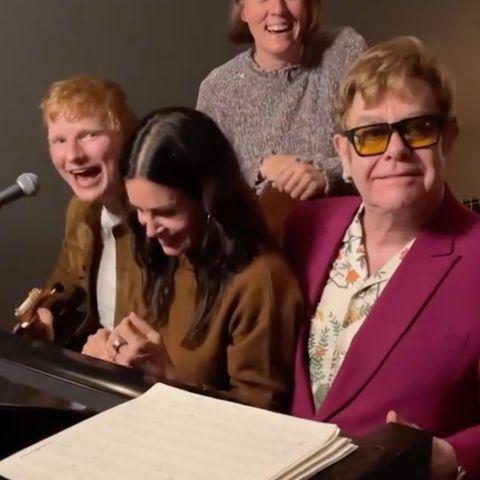 Ed Sheeran und Courteney Cox