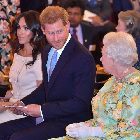 Herzogin Meghan, Prinz Harry und Queen Elizabeth