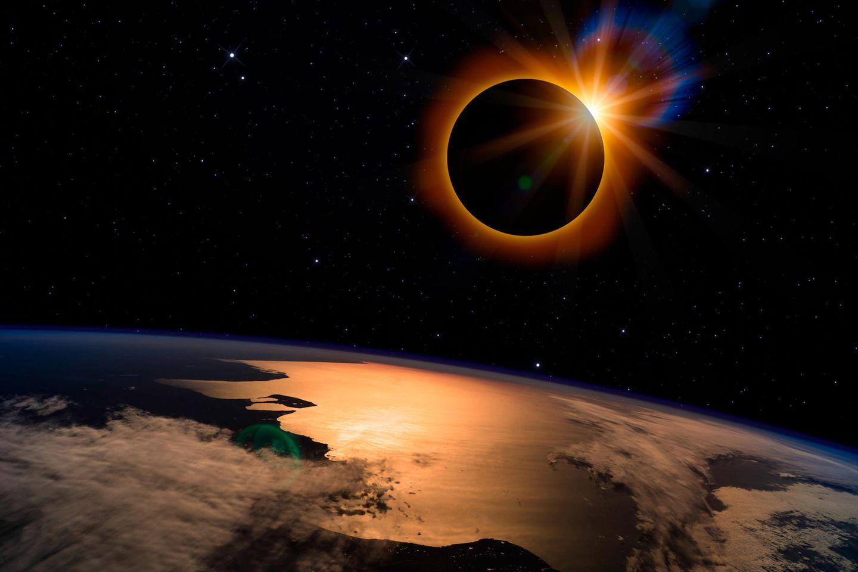 Horoskop: Das Bild einer Sonnenfinsternis