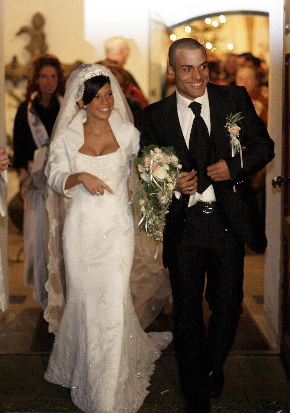 David und Suzan Odonkor2006 bei ihrer Hochzeit in Steinhagen.