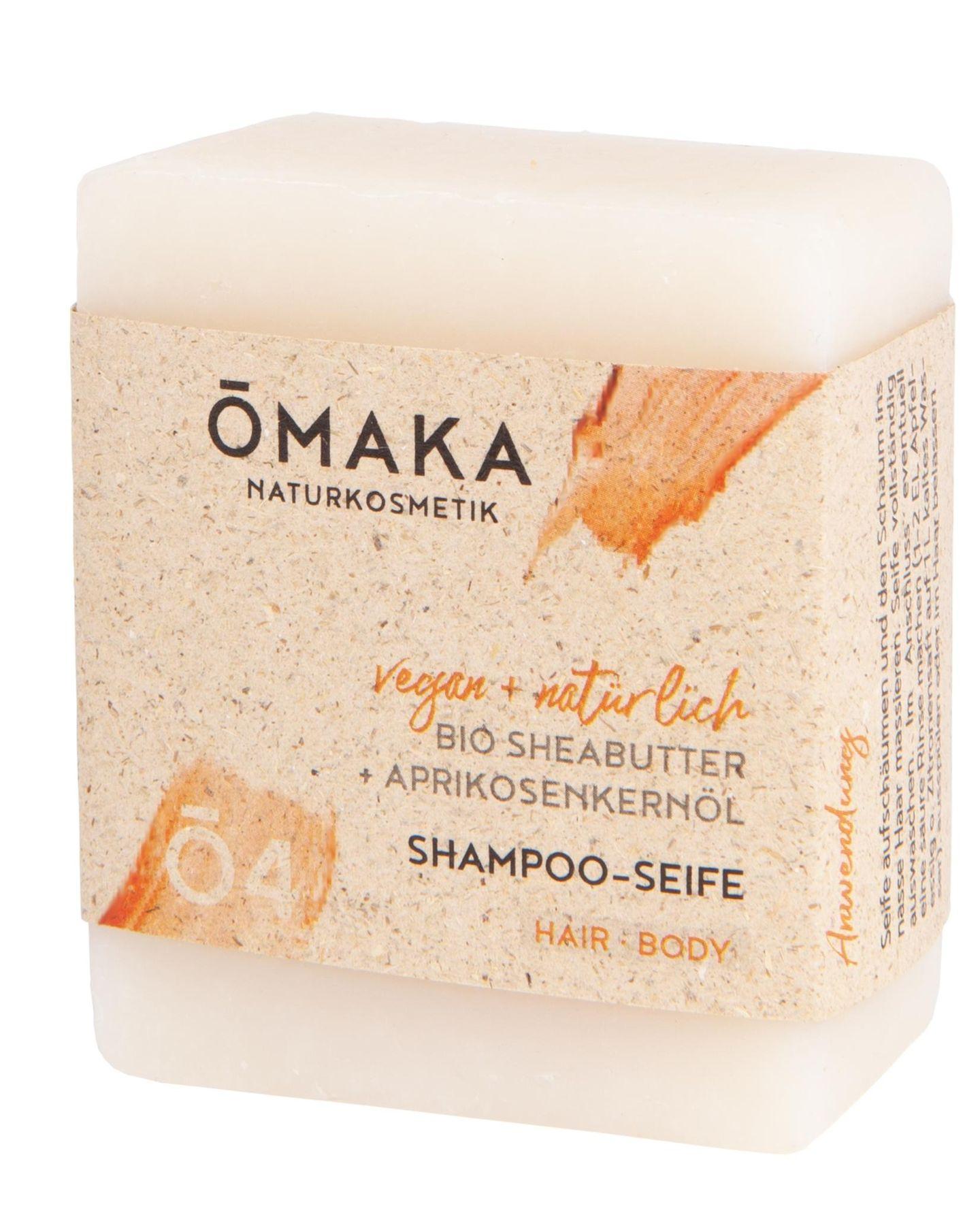 """Shampoo-Seife"" von Omaka, 100 g, ca. 10 Euro"