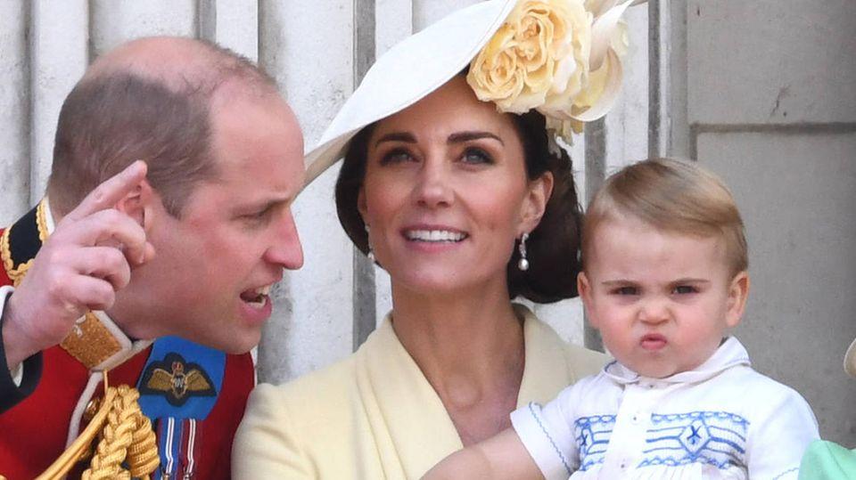 Prinz William, Herzogin Catherine undPrinz Louis