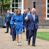 """Star-Designerin Stella McCartney und Prinz Charles treffen sich mit weiteren Beteiligten im St. James Palace in London, um im Rahmen des G7-Gipfels in Cornwall die """"Terra Carta"""" vorzustellen: ein kollektives Projekt, um Investitionen in eine nachhaltige Zukunft für Natur, Mensch und Planet voranzutreiben."""