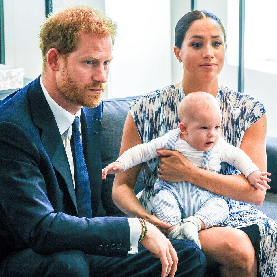 Prinz Harry, Herzogin Meghan und ihr Sohn Archie Mountbatten-Windsor