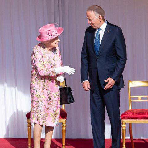 Queen Elizabeth und Joe Biden