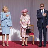 Königin Elizabeth empfängt US Präsident Joe Biden und die First Lady Jill Biden auf Schloss Windsor. Die Privataudienz bei der Queen ist ein ganz besonders Ereignis für das Präsidentenpaar.