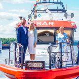 15. Juni 2021  Ahoi! Prinz Haakon und Prinzessin Mette-Marit kommen stilecht per Rettungsboot zum Treffpunkt mit Norwegens Seenotrettungsdienst in Oslo angefahren. DerTermin hat vor allem für Haakon ein spannendes Event vorgesehen, wie man auf dem nächsten Bild sehen kann.