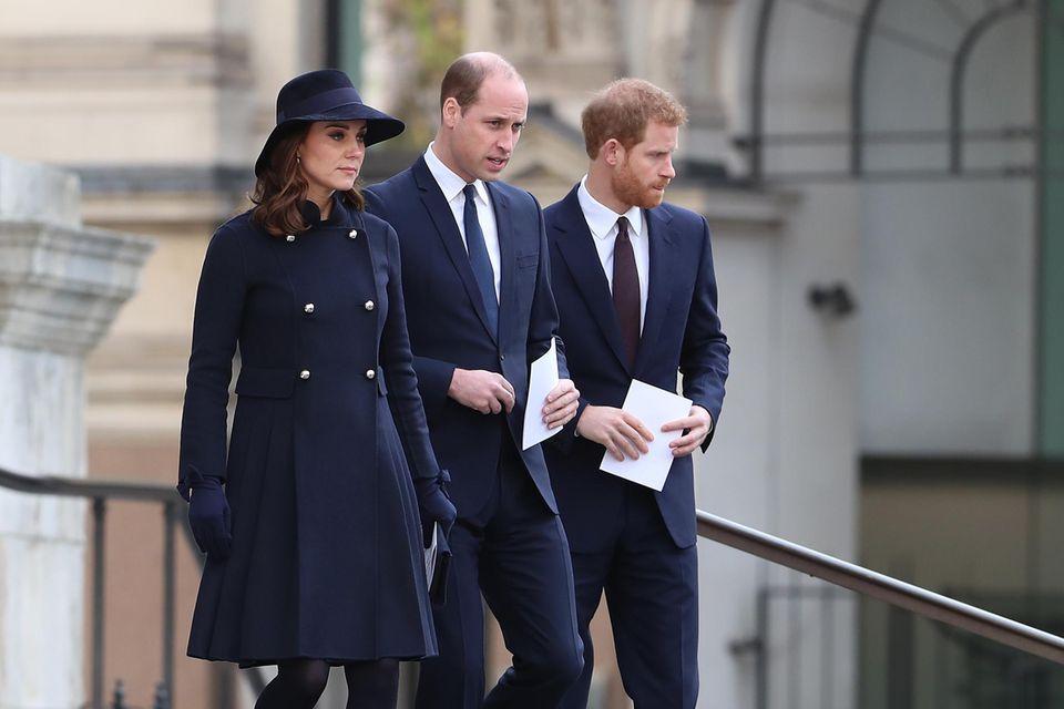 Herzogin Catherine, Prinz William und Prinz Harry.