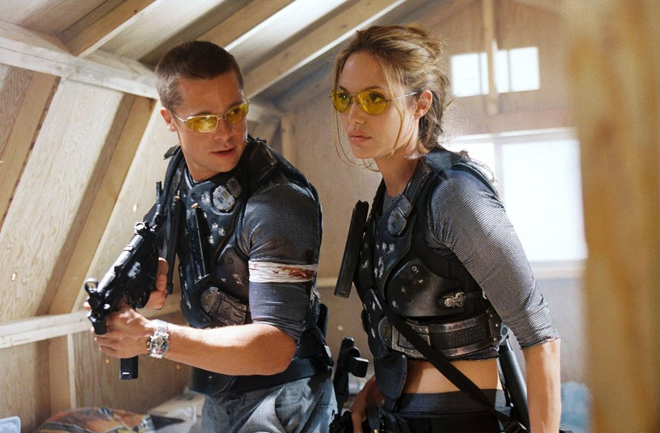 "Brad Pitt and Angelina Jolie in ""Mr. & Mrs. Smith"""