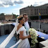 Nicht nur ganz Stockholm und die Schweden feierten an diesem schönen Juni-Tag das royale Brautpaar, die vielen Hochzeitsgäste und Gratulanten kamen aus aller Welt.