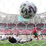 19. Juni 2021  Nach eine nicht gezählten Tor für Deutschland am Anfang der Partie gegen Portugal schießt Ronaldo seine Mannschaft erstmalin die Führung. Aber das sollte sich schnell ändern!