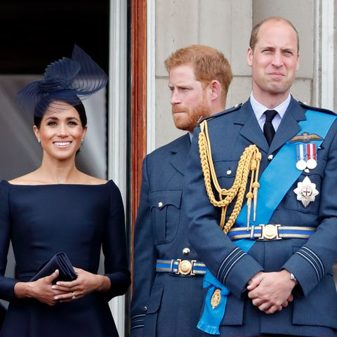 Herzogin Meghan, Prinz Harry und Prinz William