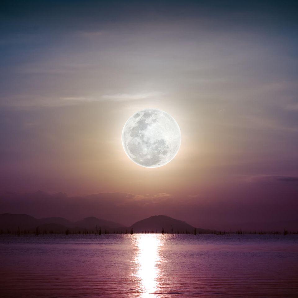 Horoskop: Ein Vollmond über dem Meer