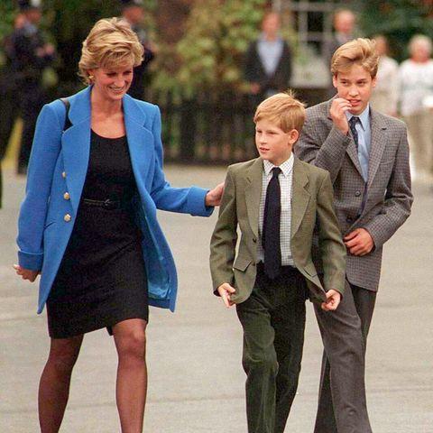 Prinzessin Diana, Prinz Harry und Prinz William.