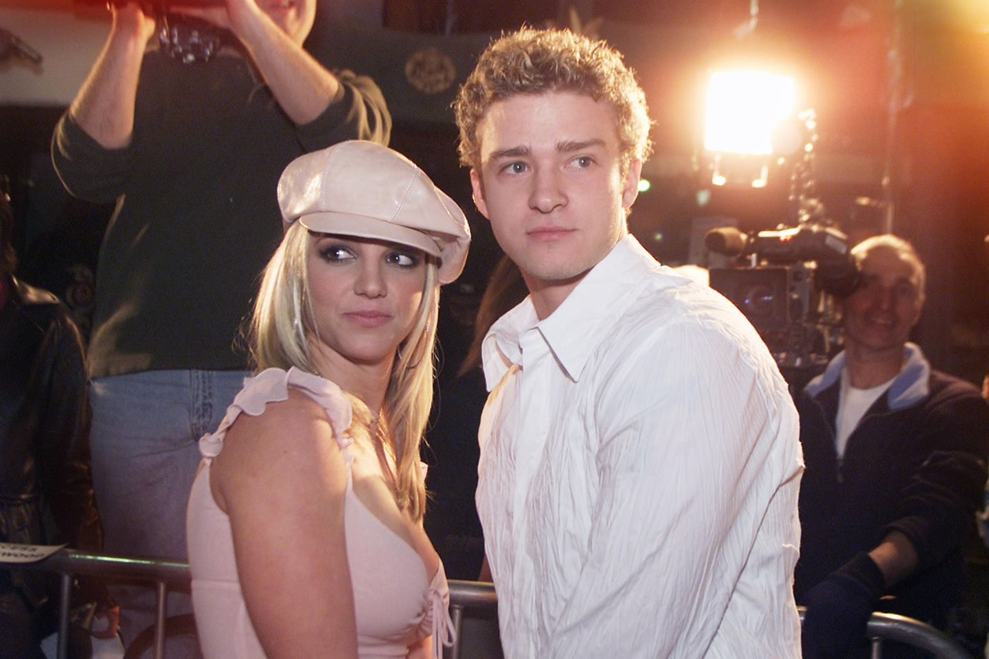 Britney Spears und Justin Timberlake 2002 in Hollywood.