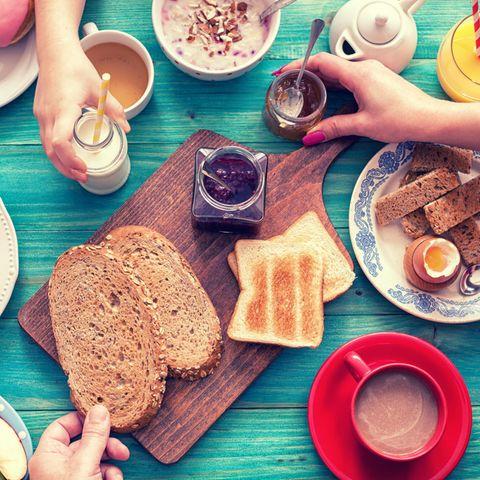 Frühstück ja oder nein? Ein Frühstückstisch
