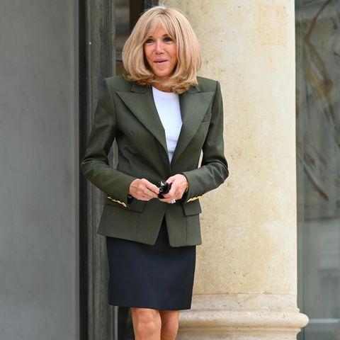 Brigitte Macron im Elysee-Palast